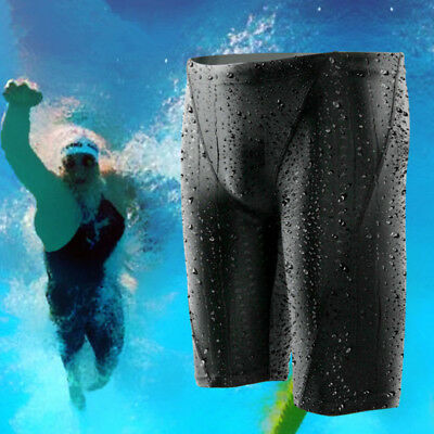 New Men's Sharkskin Racing Training Swimming Trunk Jammer Swimwear Fina Approved