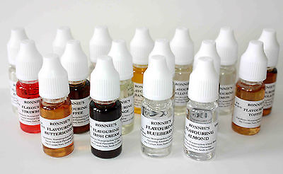 Set of 19 Concentrated Edible Liquid Flavourings, Use in Baking, Icing, Drinks
