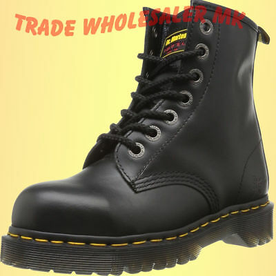 DM Docs Dr Martens Icon 7B10 7-Eyelet Steel Toe Cap Safety Work Boots UK 3-13