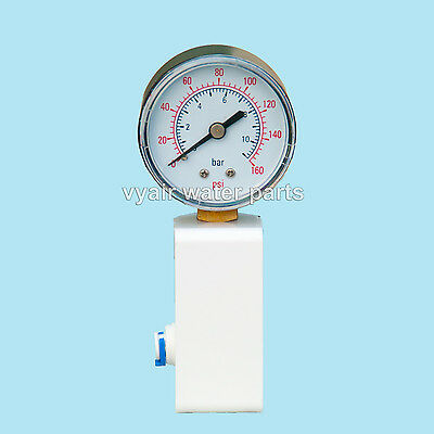 """Pressure Gauge  Reverse Osmosis System  use all 1/4"""" water pipe T connection inc"""