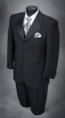 42 R Handsome Black 3 button Claiborne tuxedo This years style!