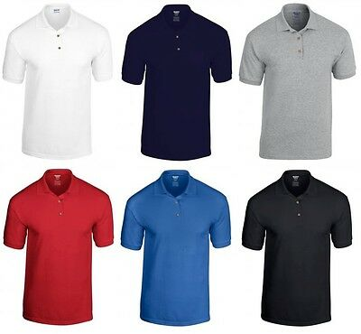 Men's Polo Shirt Plain T Shirt Blank Short Sleeve Shirt NEW