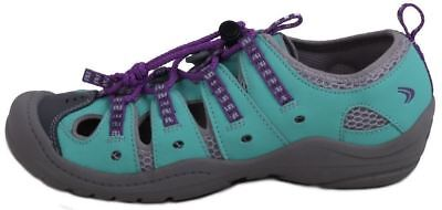 Clarks Jetta Race Girls Toddlers Mint Leather/Textile Water Walking Shoes size 9