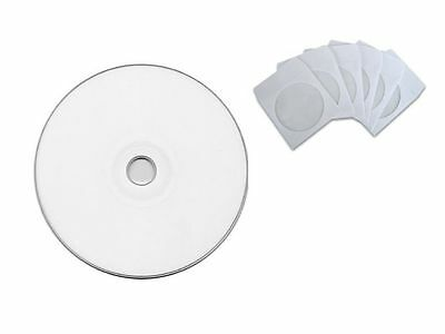 100PCS DVD-R 16X Professional Grade Blank White Top Disc + 100 Paper Sleeves