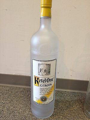 """Ketel One Citroen Vodka 4.5L Frosted Glass Unopened Dummy Display Bottle 22""""Tall"""