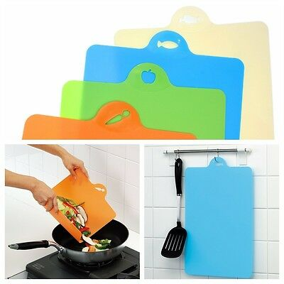 ANTIBIOTIC Ultra-thin Flexible Plastic Index Chopping Board Cutting Slicing Mats