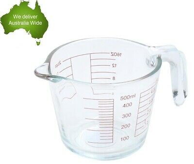 2 X Non Slip Clear Measuring Jug 1 Litre 1000 ml 32 Oz 4 Cups 1 Quart Plastic