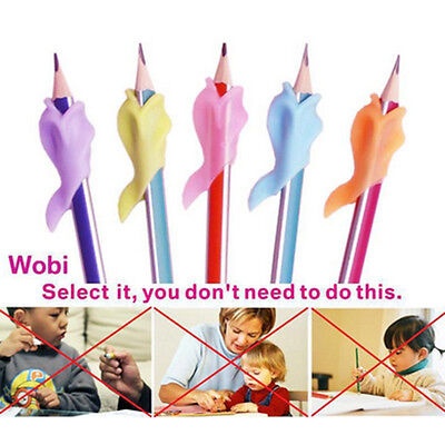 5X Dolphin Wobi Child Pencil Holder Student Writing Pen Posture Correction NEW