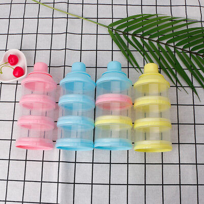 Portable 3 Cells Grid Infant Baby Feeding Milk Powder &Food Bottle Container Box