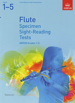 Flute Specimen Sight Reading Tests ABRSM Grades 1-5 Sheet Music Book