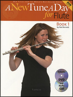 A New Tune A Day For Flute 1 Sheet Music Book/DVD/CD Learn How To Play
