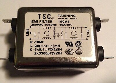 10 Amp EMI Filter 250VAC Taishing TSC
