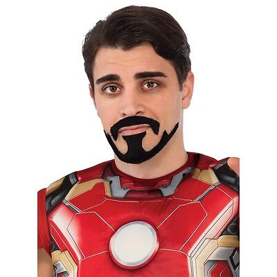 Tony Stark Moustache & Goatee Costume Accessory Adult Mens Avengers Halloween