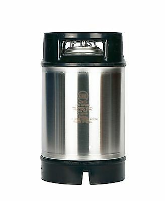 Homebrew Beer Keg New 2.5 Gallon Ball Lock - Pressure Relief -Dual Rubber Handle