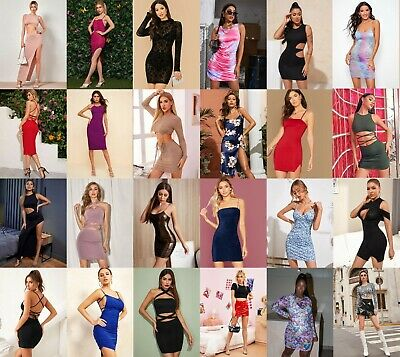 Wholesale Lot Clothing 200 Women Mixed Dresses Summer Tops Clubwear S M L Xl