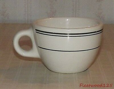 Homer Laughlin Best China Green Stripe Restaurant Ware Coffee Cup Mug / USA