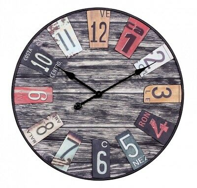 WOHNLING Big Time Design Wall Clock 60 cm with large pointer in vintage look New