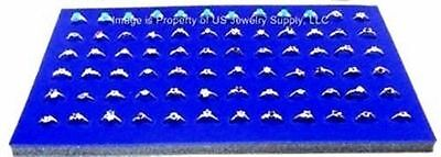 "12 Blue 72 Ring Jewelry Display Liner Insert Pads 14 3/4"" x 7 3/4"""