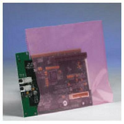 """12"""" x 18"""" Anti-Static 2 Mil Pink Poly Bags (Case of 500) Electronic Components"""