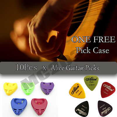 10X Acoustic Bulk Electric Smooth Guitar Picks Plectrum 1.5mm+one FREE CASE