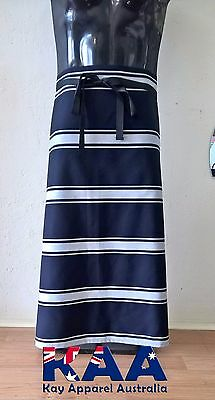 Butchers Apron Waist/Lap Apron Navy/white 85x80cm *MADE IN KINGAROY QLD* Butcher