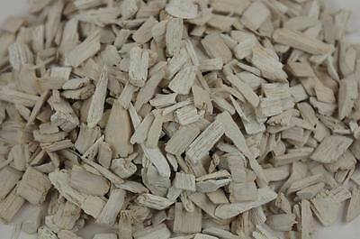 50L Wood Chip Coloured Garden Mulch Flower Bark Cork Wedding Decorative WHITE
