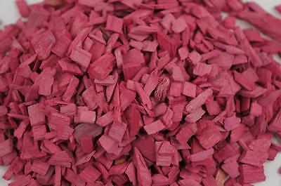 50L Wood Chip Coloured Garden Mulch Flower Bark Cork Wedding Decorative PINK