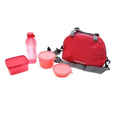 BRAND NEW TUPPERWARE Sling A Bling Lunch Set with Free Bag (Set of 4 + 1 Bag)