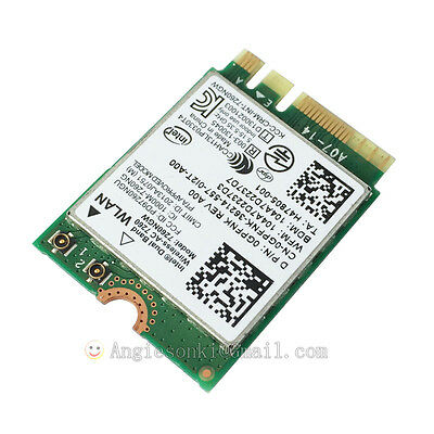 Intel 7260 AC Wifi+Bluetooth4.0 WLAN Card For Dell Venue 11 Pro 7130/7139 Tablet