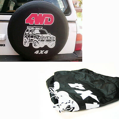 """28""""  Spare Wheel Tyre Cover Black Waterproof Fits 4x4 Jeep Offroad Suv 4wd At"""