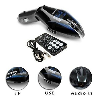 Universal Car Wireless FM Radio Transmitter Audio MP3 USB SD Card Slot + Remote