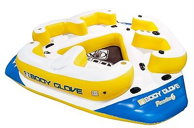 Body Glove Paradise 6 Inflatable Aqua Lounge with Waterproof Speaker System f...
