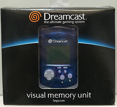 Sega Dreamcast Vmu Visual Memory Unit Memory Card Brand New Genuine Original