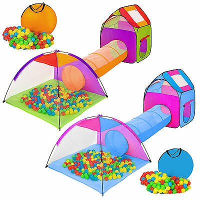 Igloo childrens kids play tent and tunnel +200 balls +bag pit playhouse garden