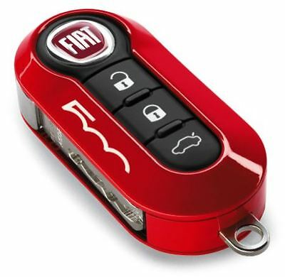 Fiat & Abarth 500 500L Gloss Coral Red Two Piece Key Cover New & GENUINE Fiat