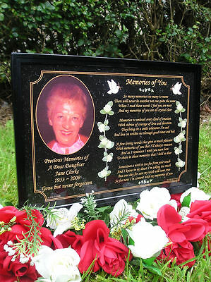 Personalised Occasions Memorial Grave Plaque - Daughter, Mum, Dad, Son, Brother