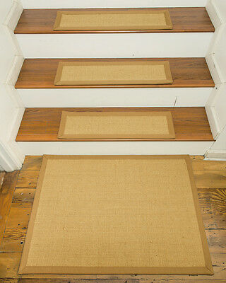 "Monterrey 100% Sisal Carpet Stair Treads  9""x29"" Set of 13 w/ Landing Mat"
