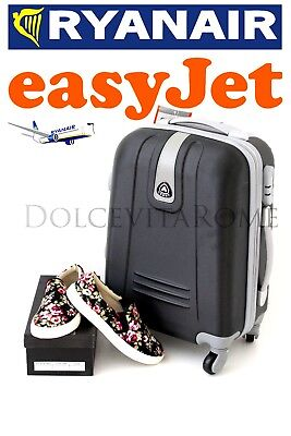 Trolley Cabina Bagaglio A Mano Ryanair Easy Jet Valigia 4 Ruote Low Cost
