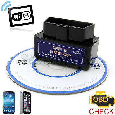 WiFi ELM327 Car OBD2 OBDII Diagnostic Scanner Tool for iPhone iPad iPod Android