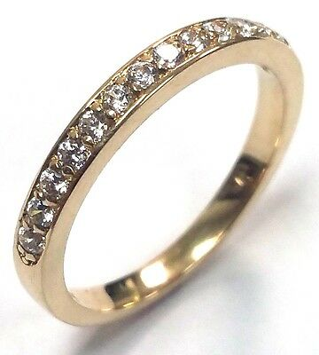 0.22 Traditional Bridal 14K Yellow Gold Wedding Band with Diamonds