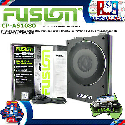 Fusion Cp-as1080 8 Inch Active 600w Slim Sub Woofer Amplifier Utes Utilitie Sub