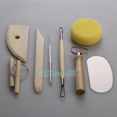Pottery Tool 8 pc Set Clay Ceramics Molding Wire clay cutter Potters Rib Tools