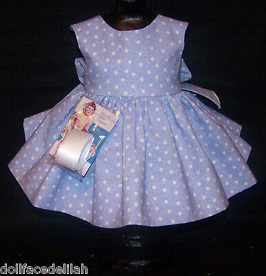 """Blue and White Dress for 22"""" Saucy Walker or Smilar Dolls"""