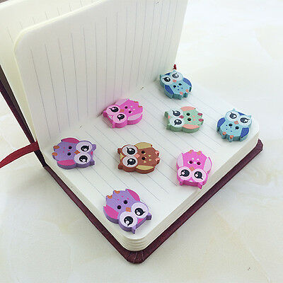 New 50Pcs Bulk Cute Owl Baby Wooden Sewing Buttons Scrapbooking Decor 2 Holes