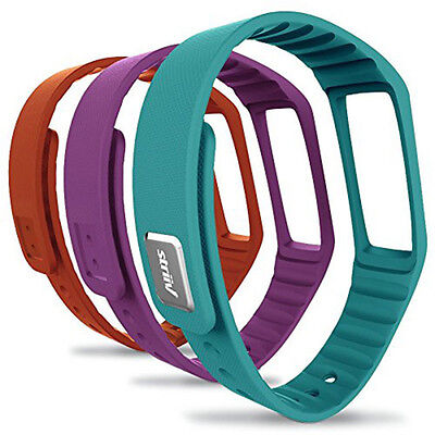 Striiv Fusion Accessory Band Pack - (Pack of 3) Skyblue, Orange, Plum Band