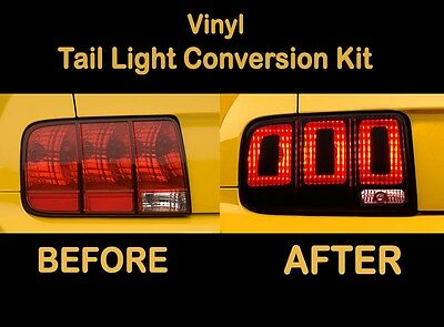 2007 2008 2009 Ford Mustang Tail Light Conversion Kit to 2013 Shelby Cobra GT500