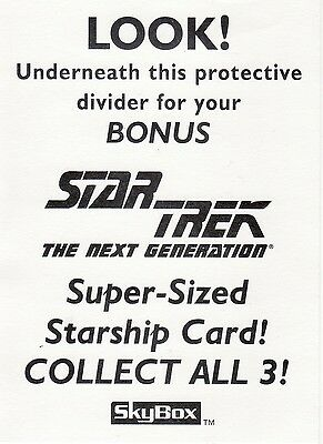 Skybox Star Trek TNG Season 3 Rare 3 Card Oversized Promo Set Plus Box Header