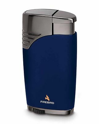 Firebird by Colibri Charger Dual Torch Cigar Lighter Blue 222002 Warranty