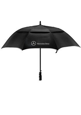 """Mercedes-Benz Auto Open Vented Golf Umbrella Large 58"""" Arc with Rubber Handle"""