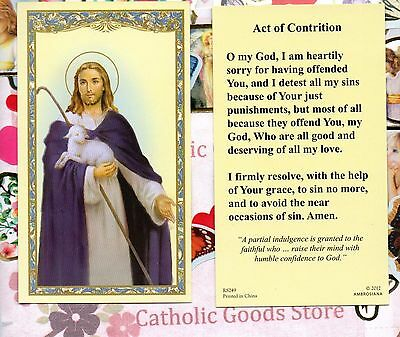 Jesus the Comforter - An Act of Contrition Prayer - Paperstock Holy Card